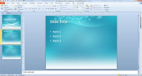 wavy blue powerpoint template