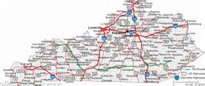 kentucky cus map map of ky cities map travel holidaymapq