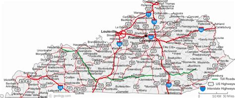 kentucky map counties roads image gallery kentucky road map