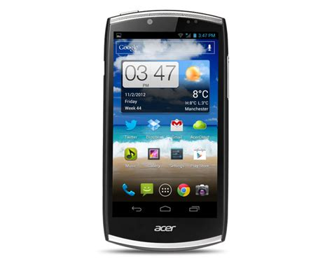 mobile android acer cloudmobile s500 android phone review the register