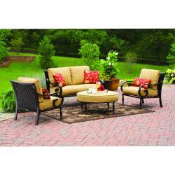 Better Homes And Gardens Patio Furniture Replacement Cushions Better Homes And Gardens Englewood Heights 4 Patio Set Walmart