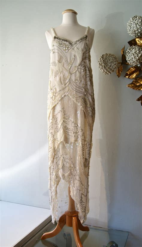 1920s flapper wedding dresses reserved 20s style beaded flapper wedding dress by