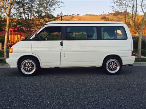 volkswagen eurovan cer clean 5 speed 1993 volkswagen eurovan westfalia weekender