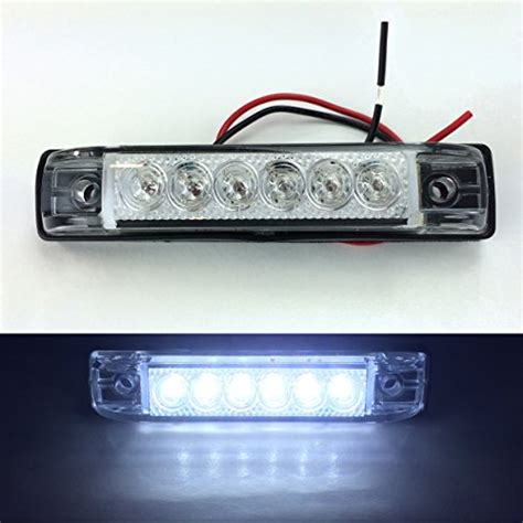 12 Volt Led Light Strips For Boats 2 Haul Bright Clear White Led Slim Line Led 12v 12 Volt Utility Lights 6 Leds 4 X1