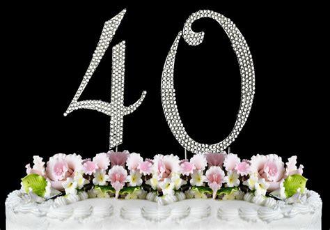 large rhinestone number  cake topper  birthday party anniversary ebay