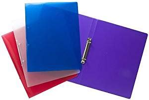 tiger a4 slim 15mm ringbinder in assorted colours x 1