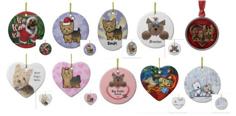 yorkie ornaments yorkie cards terrier ornaments