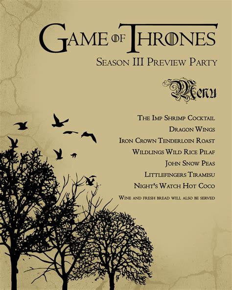 Of Thrones Board Card Template by Of Thrones S3 Premier Viewing Faraway Universe