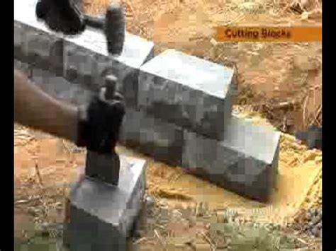 cut retaining wall blocks step  step