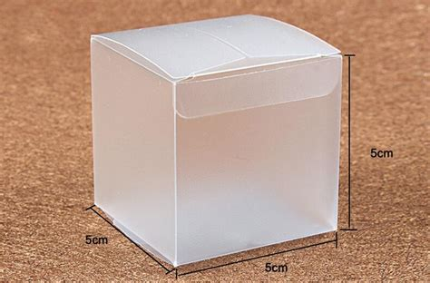 50pcs 5 5 5cm frosted pvc box plastic clear box gift boxes