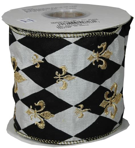 harlequin home decor 903630 4 quot harlequin fleur de lis ribbon