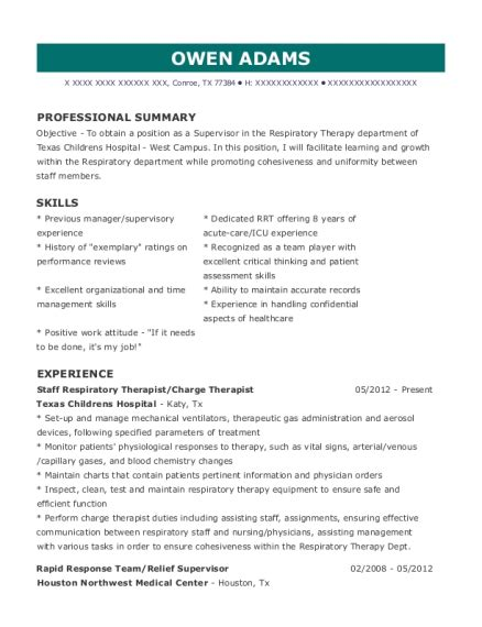 Charge Resume by Best Charge Therapist Resumes Resumehelp