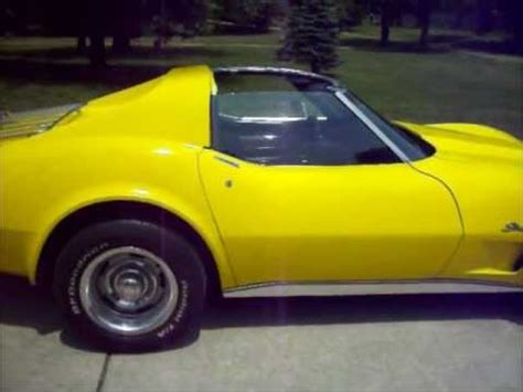 yellow paint sles 1976 corvette factory bright yellow code 56 youtube