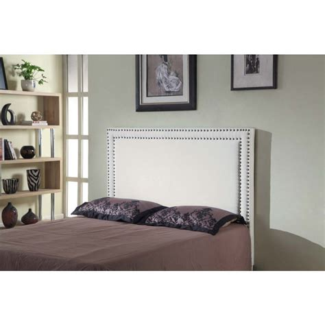 white studded headboard queen size fabric studded bed head headboard white buy