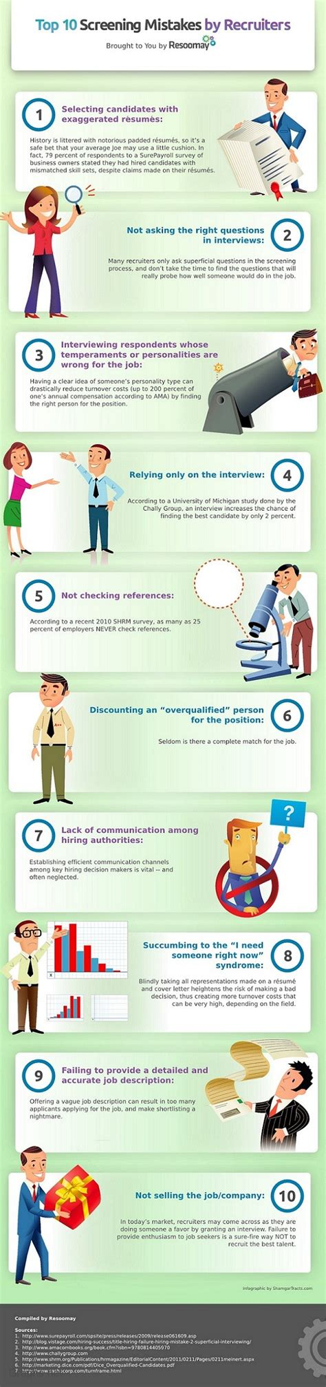 10 common mistakes made by recruiters infographics