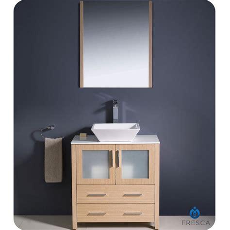 """Fresca Torino 30"""" Light Oak Modern Bathroom Vanity Vessel"""