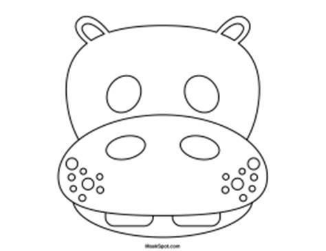 printable hippo mask printable hippo mask to color daycare pinterest