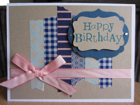 Handmade Happy Birthday - handmade greeting card happy birthday washi