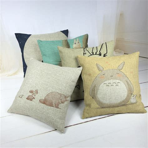 throw cushions for decor home cartoon style fashion decorative cushions cute totoro