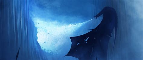 white walker ice dragon breaking  wall hd  wallpaper