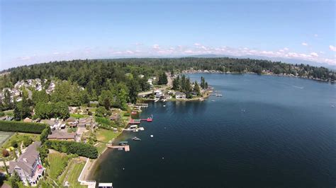 houses for sale in lake stevens wa aerial look at lake stevens wa youtube