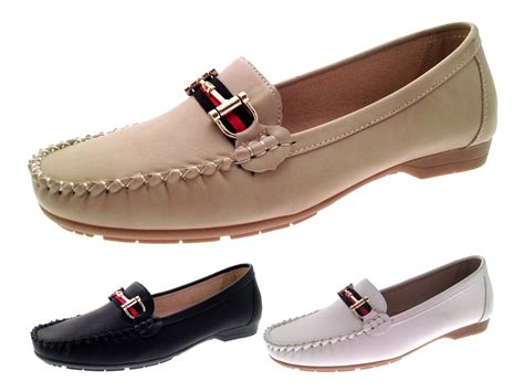 comfortable shows womens faux leather driving comfort shoes moccasins