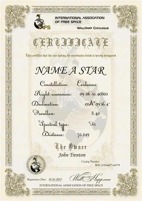 name a certificate template name a the most treasured gifts in the universe are