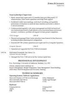 resume for it management susan ireland resumes