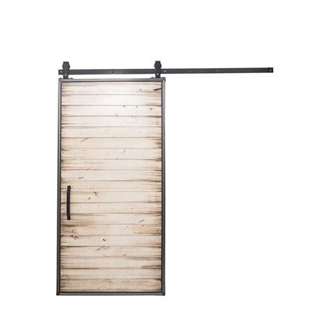 Home Depot Sliding Barn Door Rustica Hardware 42 In X 84 In Mountain Modern White Wash Wood Barn Door With Mountain Modern