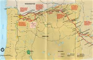 The Oregon Trail Map by Oregon National Historic Trail