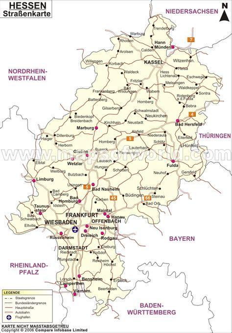 strabenkarte hessen strabenkarte von hessen strabenkarte