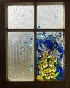 Dragonfly Garden Wall Art - mosaic stained glass dragonfly in the window glass art by catherine van der woerd