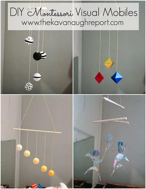 Hanging Decorations For Home montessori infant mobiles visual series