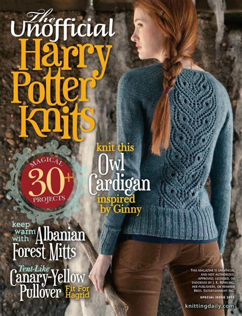 unofficial harry potter knits comment tricoter une echarpe harry potter
