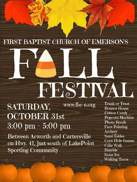 fall festival flyer template fall festival flyer ocife