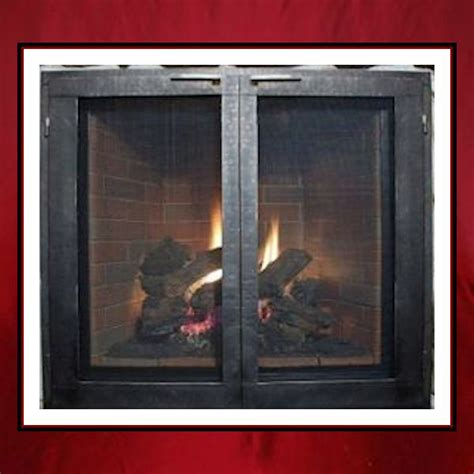 Custom Glass Fireplace Screens by Fireplace Door Northshore