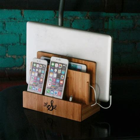 multi device charging station and dock eco friendly bamboo great customized bamboo multi charging station eco friendly