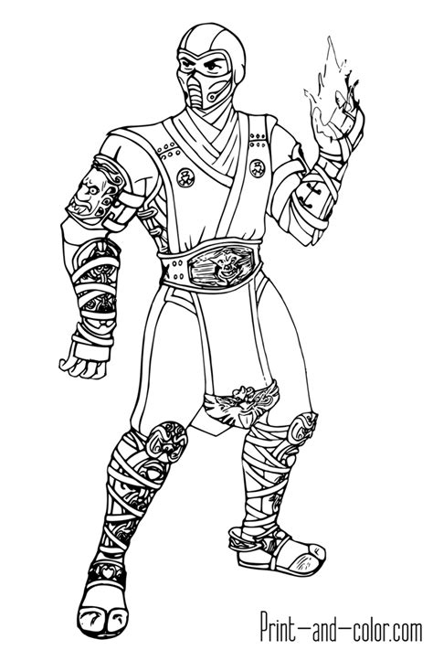 Scorpion fortnite - Coloring pages - Print coloring 2019