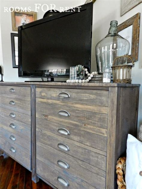 grey stained wood dresser printer s cabinet using a combo of minwax special walnut