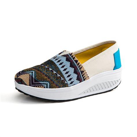Canvas Platform Boat Shoes retro platform shoes casual canvas wedgess