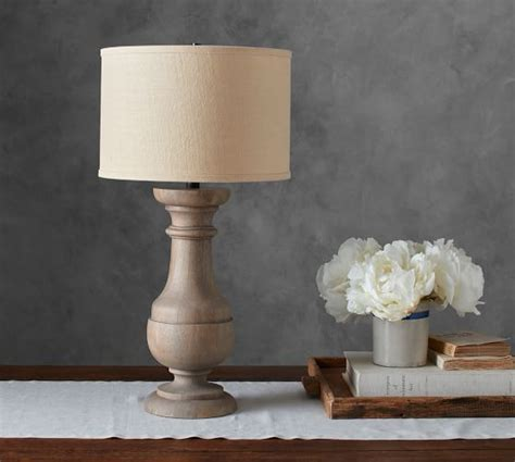 Finn Turned Wood Table Lamp Base   Pottery Barn