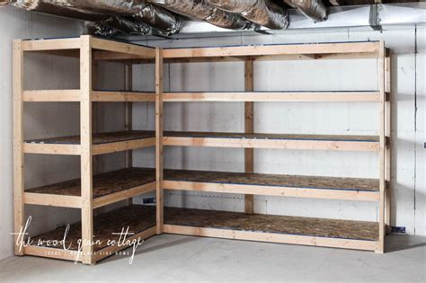 building basement shelves diy basement shelving the wood grain cottage