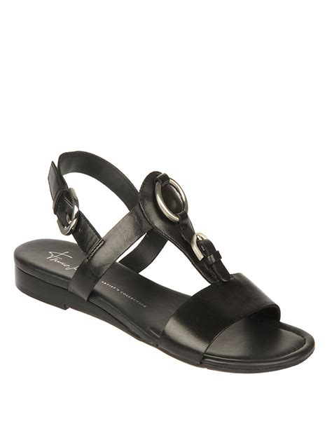 franco sarto black sandals franco sarto gavin vegan leather sandals in black lyst