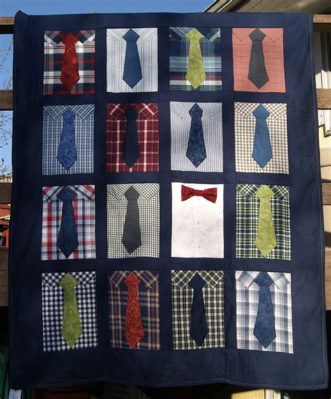 pattern for shirt and tie quilt shirt and tie quilt by caridydesigns on etsy 150 00