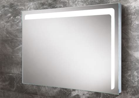 steam free bathroom mirrors hib louisa steam free led back lit mirror 800 x 600mm