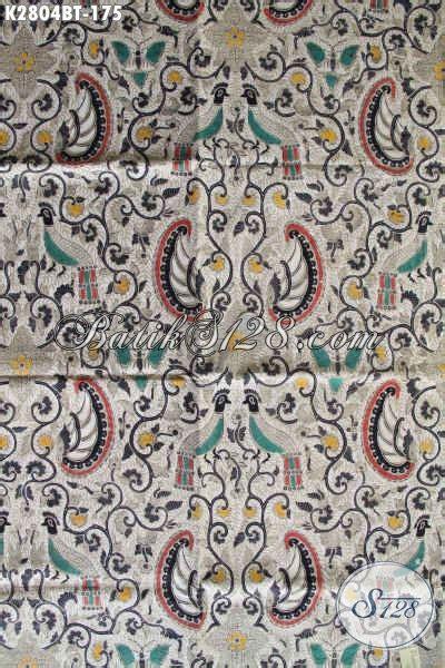 Baju Batik Kombi Burung kain batik klasik proses kombinasi tulis warna putih