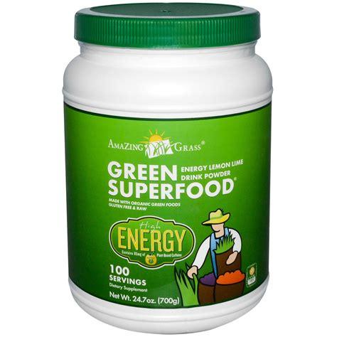 supplement greens amazing grass green superfood energy lemon lime powder