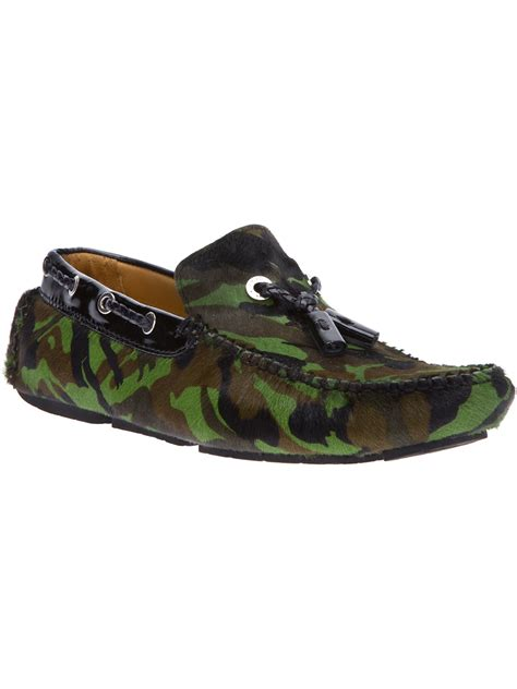 jimmy choo loafer jimmy choo camouflage print loafer in green for lyst