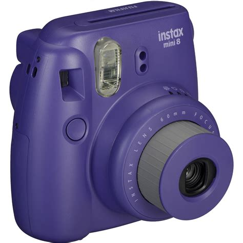 instant mini fuji instax mini 8 instant photo grape violet avec