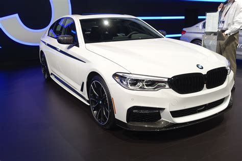 bmw 540 i 2017 new york auto show bmw 540i wearing m performance parts